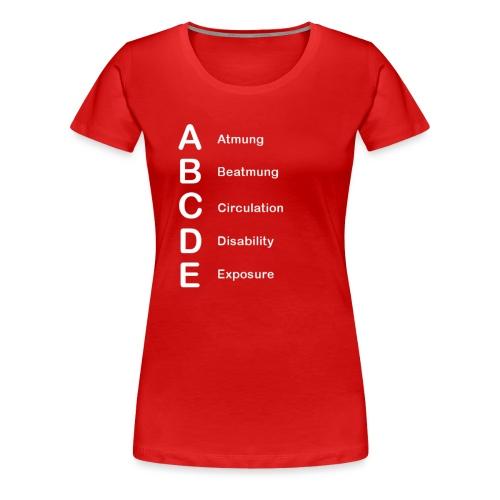 ABCDE-Schema - Frauen Premium T-Shirt