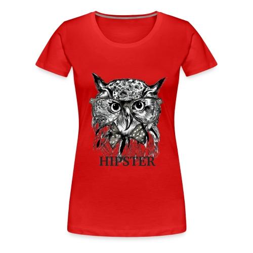 Hibou Hipster - T-shirt Premium Femme