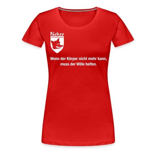 fuechse wille - Frauen Premium T-Shirt