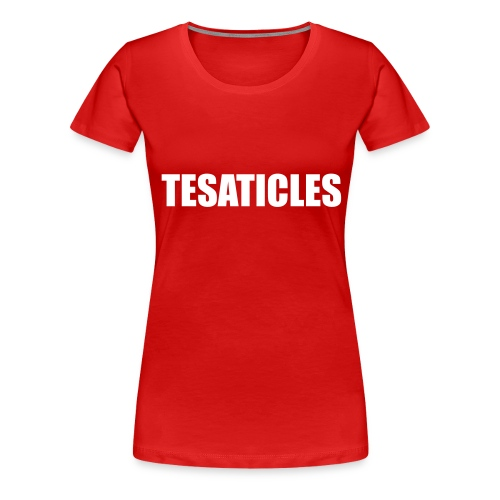 hatemail tesaticles - Women's Premium T-Shirt