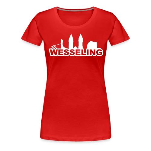 Wesselinger Skyline - Frauen Premium T-Shirt