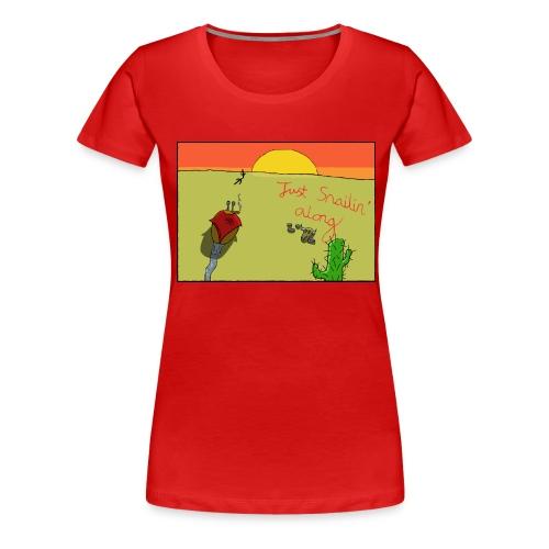 Just Snailin Along - Women's Premium T-Shirt