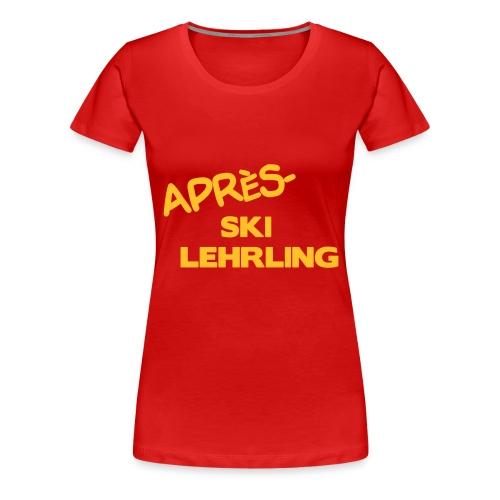Après Ski Lehrling, Winter Shirt - Frauen Premium T-Shirt