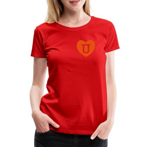 LOVE- U Heart - Women's Premium T-Shirt
