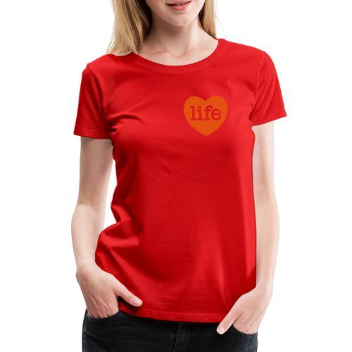 LOVE LIFE heart - Women's Premium T-Shirt