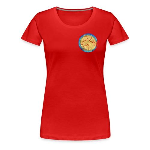 Weltkugel Hebammen - Frauen Premium T-Shirt