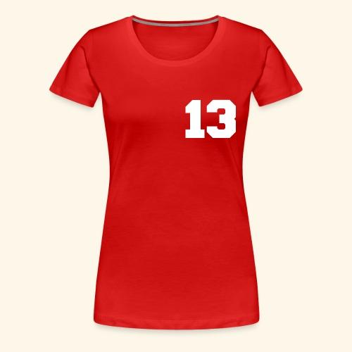 13 white - Frauen Premium T-Shirt