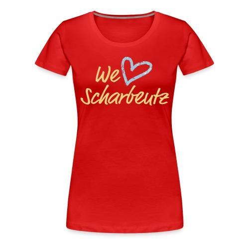 We love Scharbeutz - Logo sand/hellblau - Frauen Premium T-Shirt