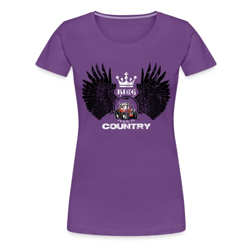 WINGS King of the country zwart wit op rood - Vrouwen Premium T-shirt