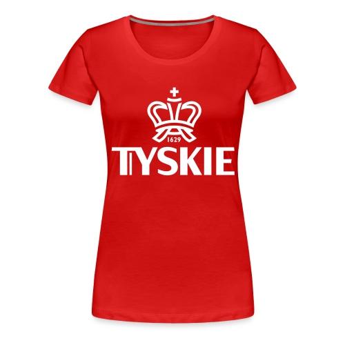 tyskie korona logotyp cze - Frauen Premium T-Shirt