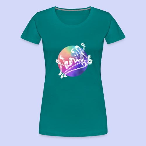 pastel rainbow, NuniDK Collection - Female top - Dame premium T-shirt
