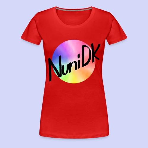 Rainbow shade, NuniDK Collection - Female top - Dame premium T-shirt