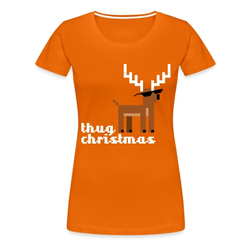 Christmas Xmas Deer Pixel Funny - Women's Premium T-Shirt