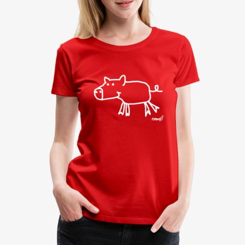 Schweinchen Olga - Frauen Premium T-Shirt