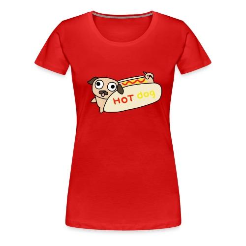 Hot Dog Lisa - Premium-T-shirt dam