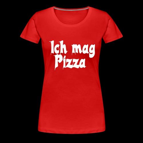 Pizza Logo white - Frauen Premium T-Shirt