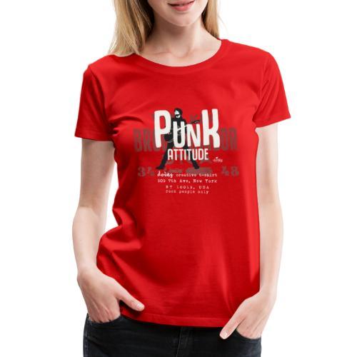 punk attitude - Maglietta Premium da donna