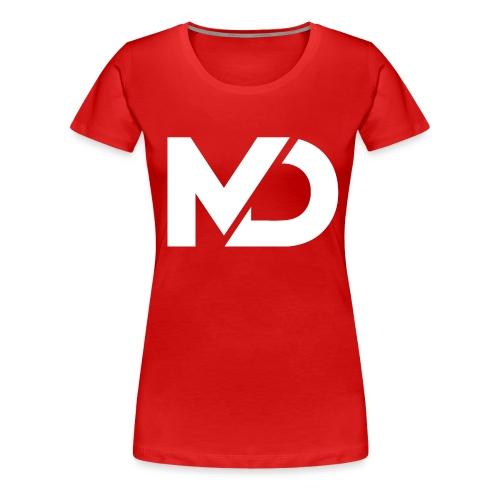 logo_wit - Vrouwen Premium T-shirt