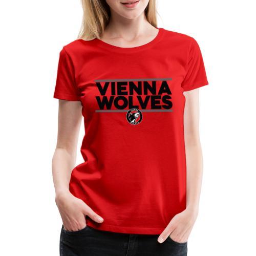 Vienna Wolves Shirt Dunkel-Grau - Frauen Premium T-Shirt