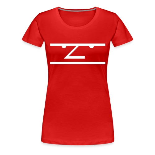 The Average Men Hoodie, White Logo - Vrouwen Premium T-shirt