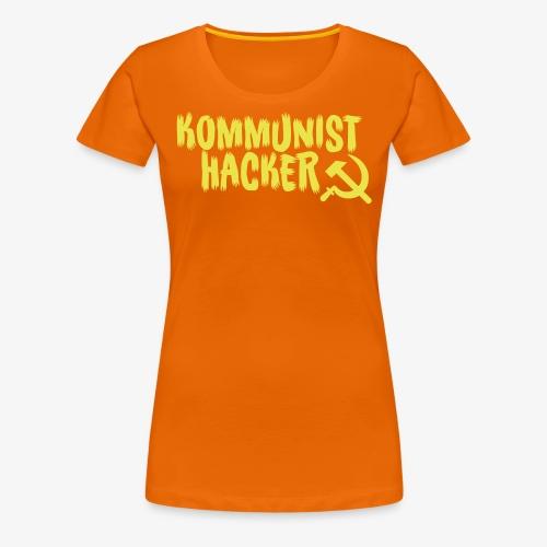 Kommunist Hacker - Dame premium T-shirt