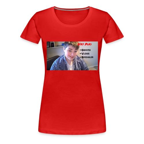 VayPlay kanal-bilde - Premium T-skjorte for kvinner