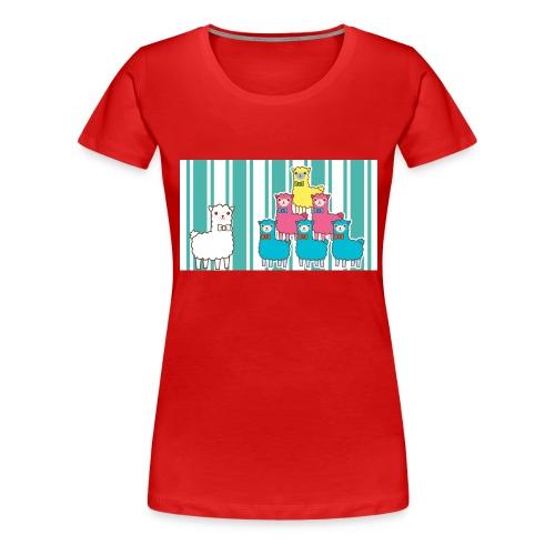 Alpaca Design - Frauen Premium T-Shirt