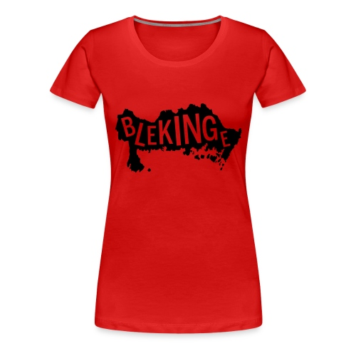 Blekingekarta - Premium-T-shirt dam