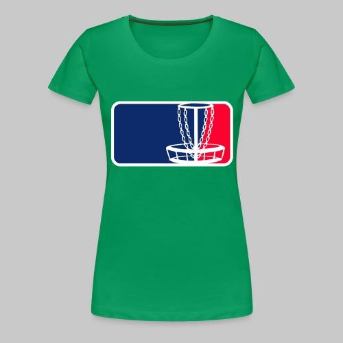Disc golf - Naisten premium t-paita