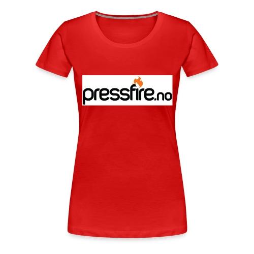 PFlogohvit jpg - Premium T-skjorte for kvinner