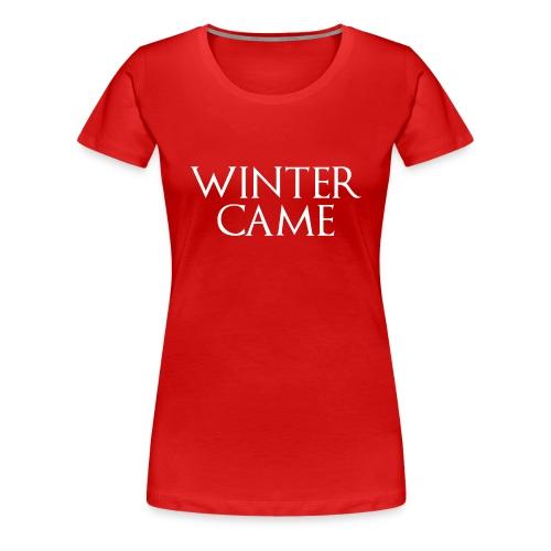 WINTERX png - Frauen Premium T-Shirt