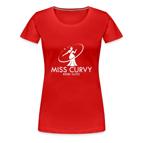 MISS CURVY Rhône Alpes blanc - T-shirt Premium Femme