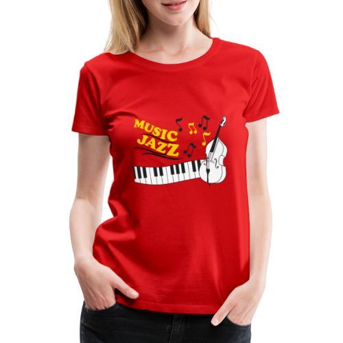 music jazz con piano e contrabbasso - Maglietta Premium da donna