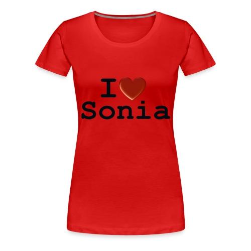 i love sonia - Koszulka damska Premium