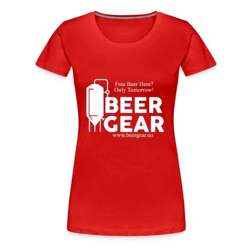 Beer Gear free Beer White - Premium T-skjorte for kvinner
