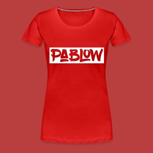 Pablow Logo boxed - Vrouwen Premium T-shirt