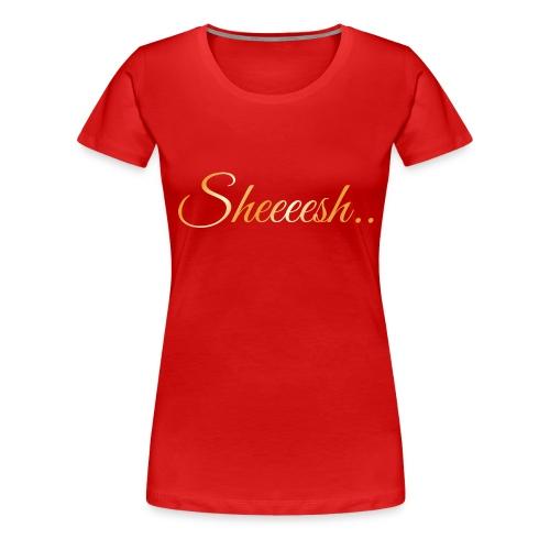 SheeshaTshirtGold ArtWork Front png - Frauen Premium T-Shirt
