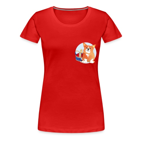 Royal Corgi - Women's Premium T-Shirt