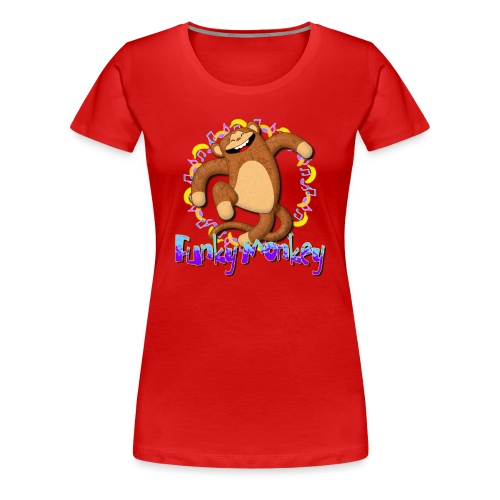 Funky Monkey - Maglietta Premium da donna