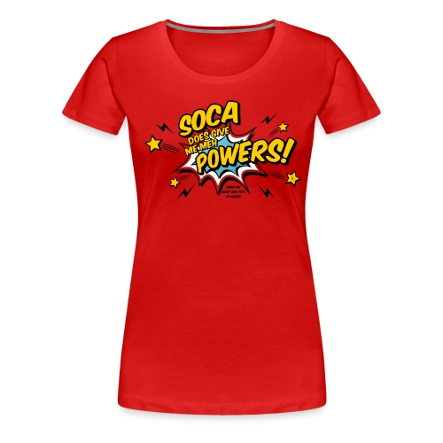 Soca Powers red png - Frauen Premium T-Shirt