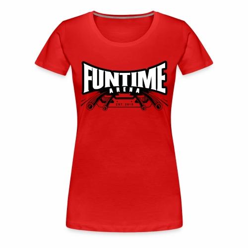 FunTime Logo Weißer text - Frauen Premium T-Shirt