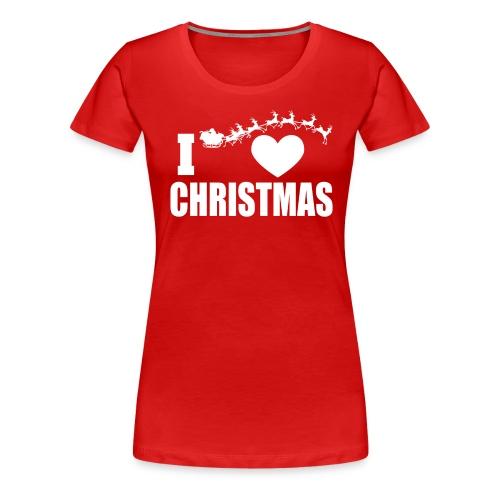 I Love Christmas Heart Natale - Maglietta Premium da donna