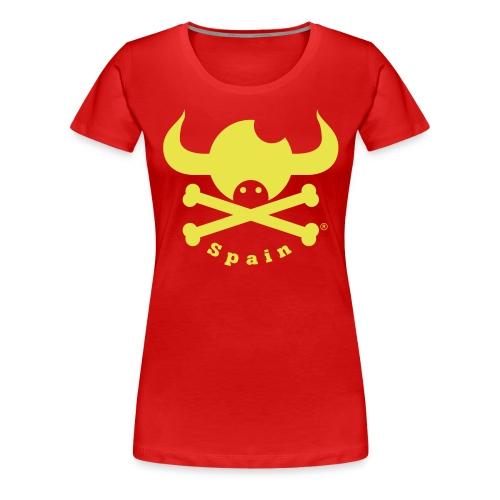 DISEÑO QUIJOTES BASICO AMARILLO SPAIN - Camiseta premium mujer