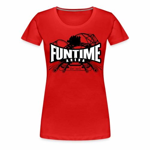 Schiene_Weiße Schirft - Frauen Premium T-Shirt