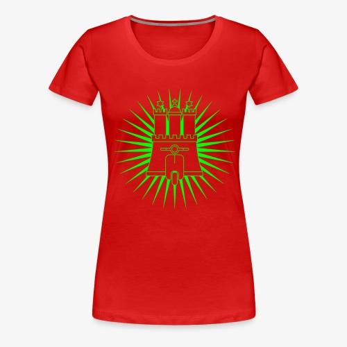 Hamburg rollt! 1-farbig - Frauen Premium T-Shirt