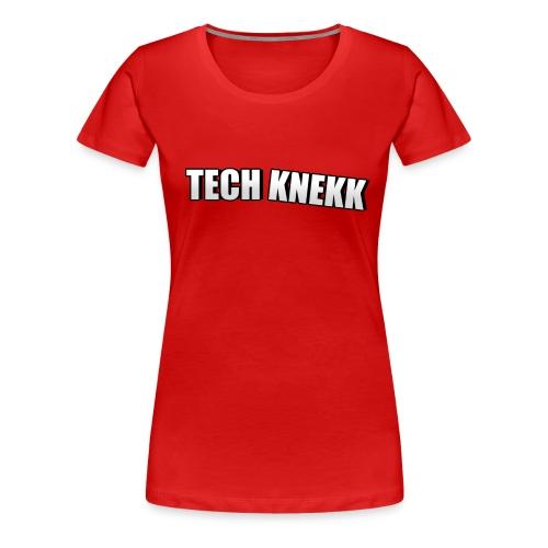 Techknekk logo stor png - Premium T-skjorte for kvinner