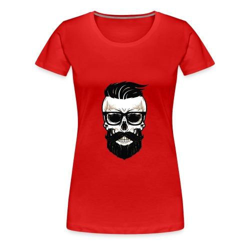 Bearded Dads Skull - Frauen Premium T-Shirt