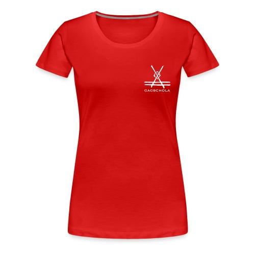 Logo gagchola blanc png - T-shirt Premium Femme