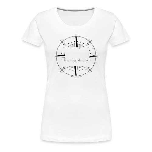 180degrees2d print png - Dame premium T-shirt