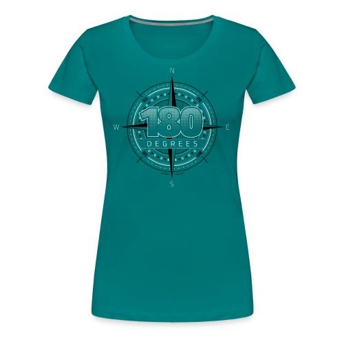 180degrees2d print png - Dame premium T-shirt